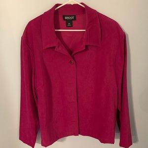 Briggs New York raspberry color shirt/jacket 2x